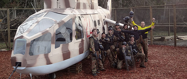 Rambo 2 Russian Helicopter at Delta Force Paintball Tsawwassen