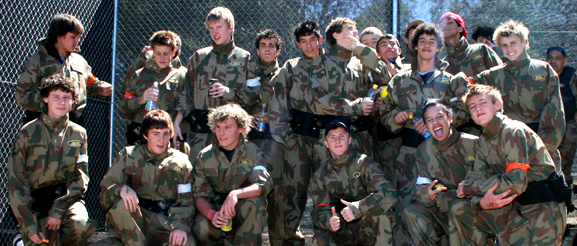 School Group Paintball
